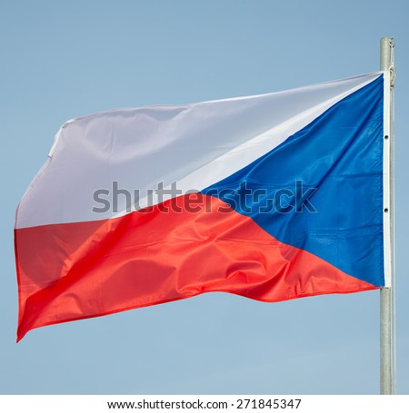 Flag of Czech Republic - Czech Republic Flag - stock photo
