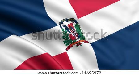 Flag Of Dominican Republic - stock photo