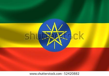 Flag of Ethiopia - stock photo