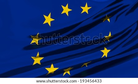 Flag of Europe. - stock photo