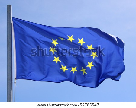 Flag of European Union 2 - stock photo