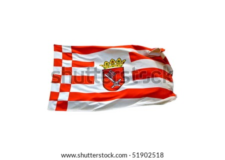 Flag of federal state Bremen - stock photo