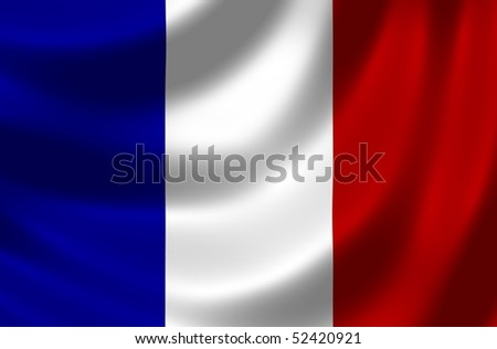 Flag of France - stock photo