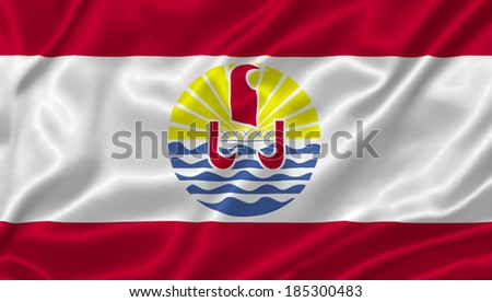Flag of French Polynesia - stock photo