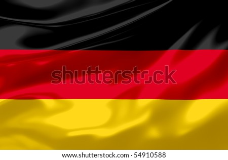 Flag of Germany waving - stock photo