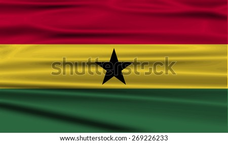 Flag of Ghana with old texture.  illustration - stock photo