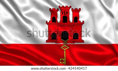 Flag of Gibraltar - stock photo