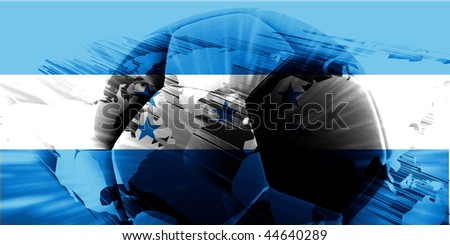 Flag of Honduras, national country symbol illustration sports soccer football - stock photo