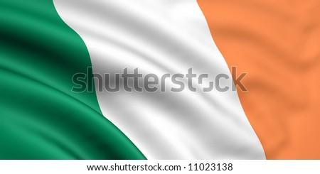 Flag Of Ireland - stock photo