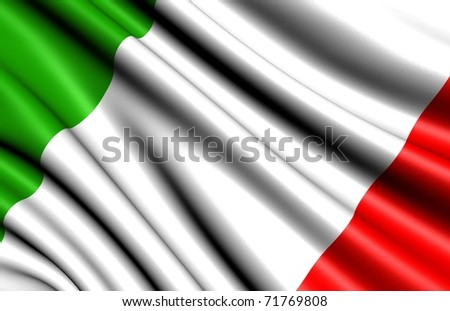 Flag of Italy. Close up. - stock photo