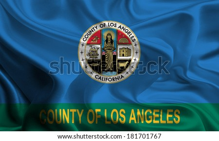 Flag of Los Angeles County of the USA - stock photo