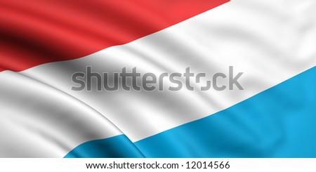 Flag Of Luxembourg - stock photo