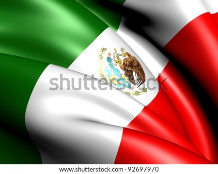 Flag of Mexico. Close up. - stock photo