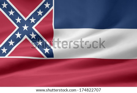 Flag of Mississippi - USA - stock photo
