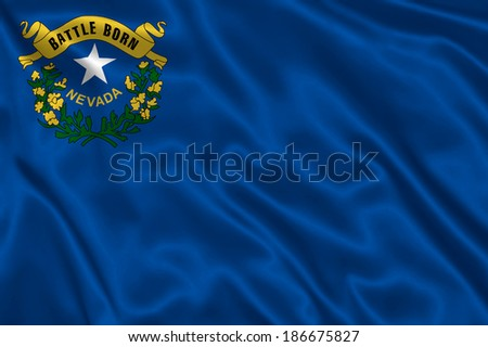 Flag of Nevada state (USA) - stock photo
