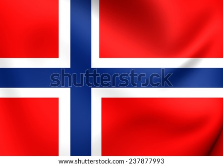Flag of Norway. Close Up.    - stock photo