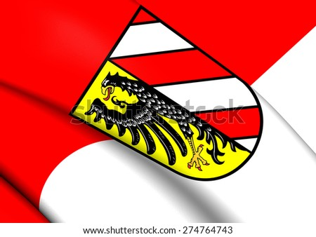 Flag of Nuremberg, Germany. Close Up. - stock photo