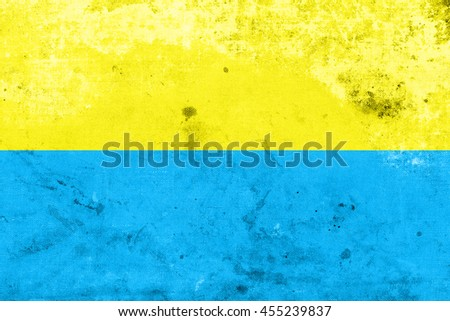 Flag of Opole, Poland, with a vintage and old look - stock photo