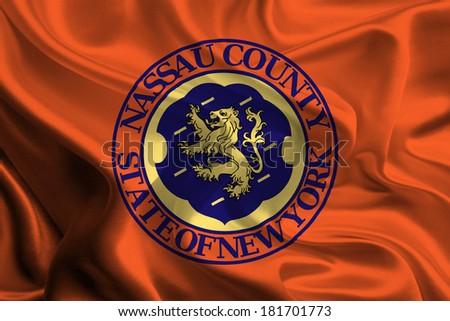 Flag of Orange County of the USA - stock photo