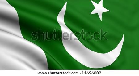 Flag Of Pakistan - stock photo
