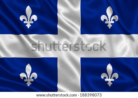 Flag of Quebec - stock photo