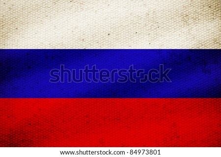 Flag of Russia, white blue and red color of Russia flag. - stock photo