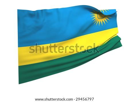 flag of rwanda - stock photo