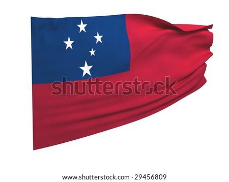 flag of samoa - stock photo