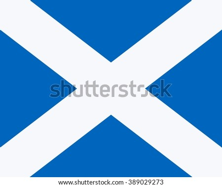Flag of Scotland, Saltire of St Andrew, with official colour and ratio 4:5. - stock photo