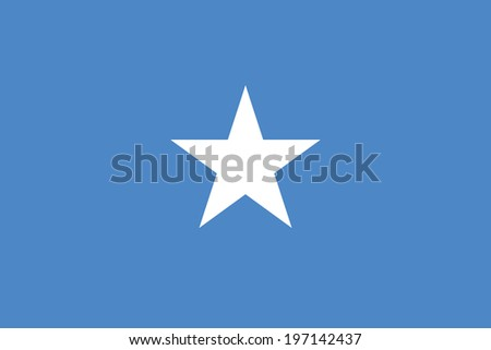 Flag of Somalia. Accurate dimensions, element proportions and colors. - stock photo