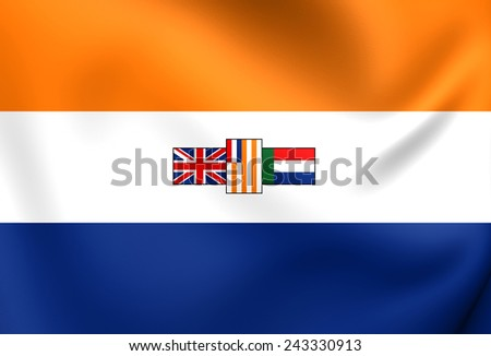 Flag of South Africa (1928-1994). Close Up. - stock photo