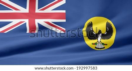 Flag of South Australia - stock photo