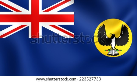 Flag of South Australia. Close Up. - stock photo
