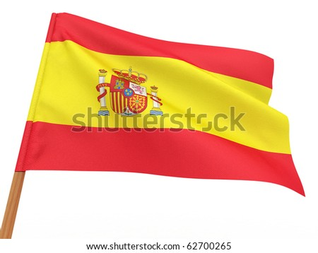Flag of Spain. 3d - stock photo