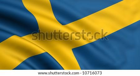 Flag Of Sweden - stock photo