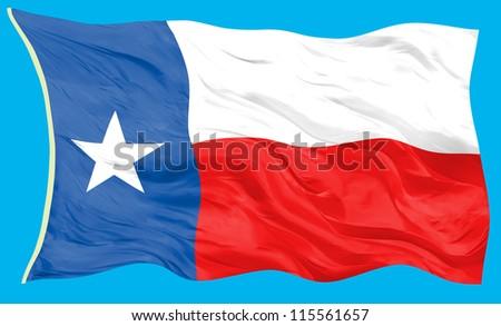Flag of Texas - stock photo