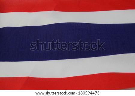 flag of Thailand. - stock photo