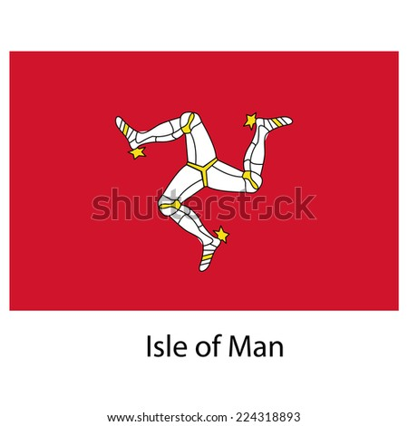 Flag  of the country  isle of man.  illustration.  Exact colors.  - stock photo