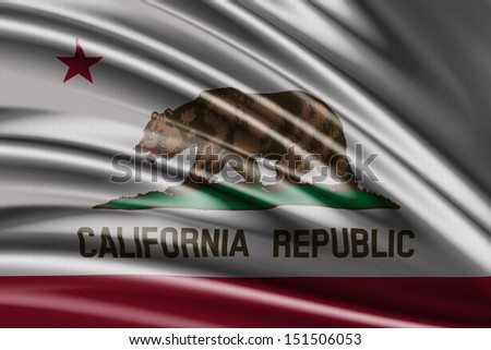 Flag of the State of California, United States of America - USA - stock photo