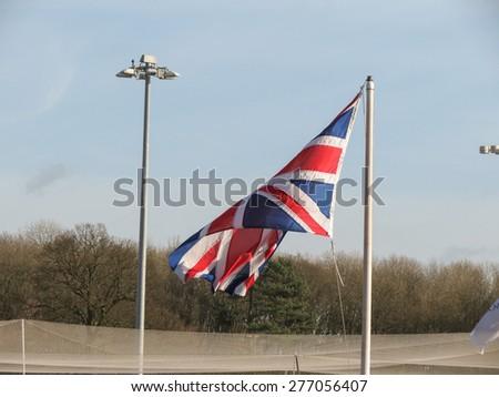 Flag of the UK aka Union Jack - stock photo