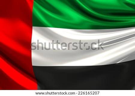 Flag of the United Arab Emirates.  - stock photo