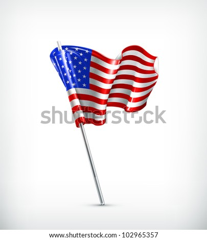 Flag of the United States, bitmap copy - stock photo