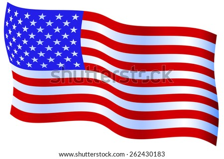 Flag of the United States of America - stock photo