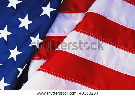 Flag of the United States of America. - stock photo