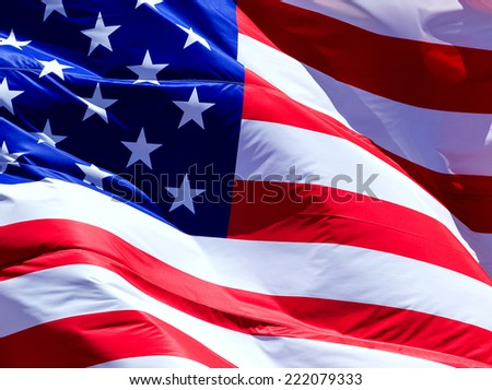 Flag of the USA  - stock photo