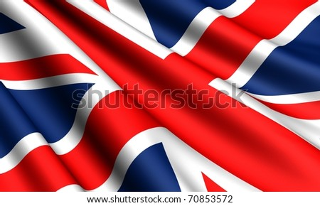 Flag of UK. Close up. - stock photo