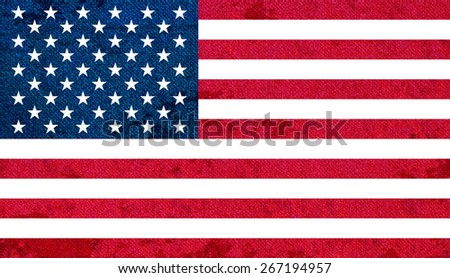 Flag of United States of America - stock photo