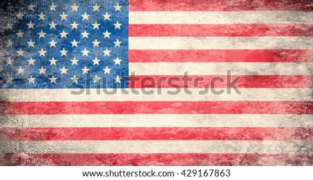 Flag of USA - stock photo