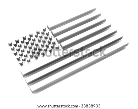 Flag of USA. 3d - stock photo