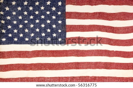 Flag Of USA surface close up macro texture background  - stock photo